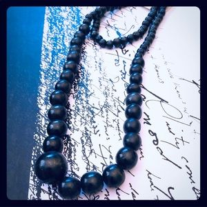 Other - Black wood boho earthy necklace